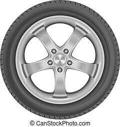 tire - isolated car tire
