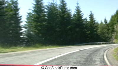 Fast drive on sinuous road