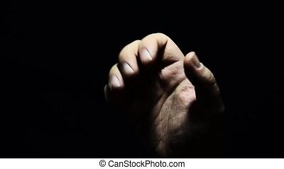 A helping hand in a difficult moment - hand of an adult and...