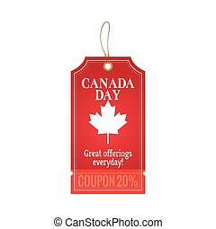 Canada Day - Abstract Canada day object on a white...