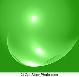abstract green fractal image with bubble