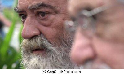 Bearded Old Man Talking