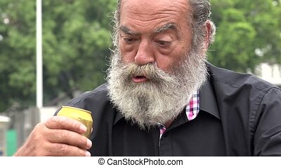 Drunk Old Man With Beard