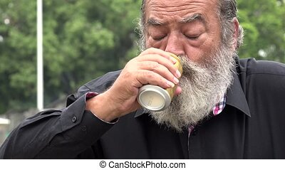 Drunk Old Bearded Man
