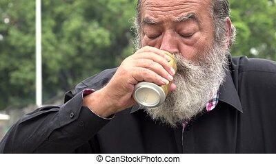 Drunk Old Bearded Man