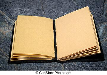 open sketchbook journal - An artist sketchbook or writer...