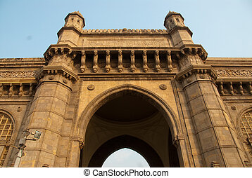 Mumbai Bombay, India - The Gateway of India monument in...