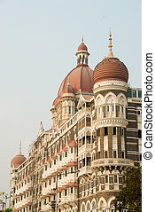 Mumbai Bombay, India - A landmark building in downtown...
