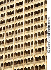 Balconies - Close up of balconies in Mumbai (Bombay), India