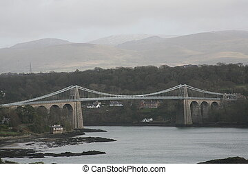 Menai Bridge - Built in 1826 by Thomas Telford Menai bridge...