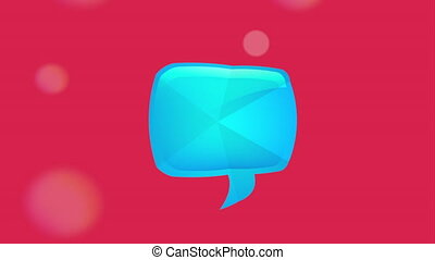 Talk box icon, Video Animation HD1080