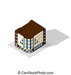 Isometric 3D icon Pictograms house Vector illustration eps...