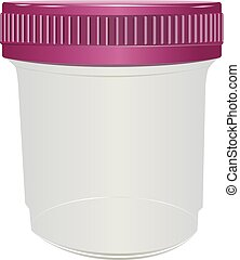 Sealed plastic container for medical purposes Vector...
