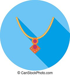 Locket - Jewelry, locket, gold icon vector image Can also be...