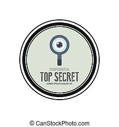 Top Secret - Abstract top secret label on a white background