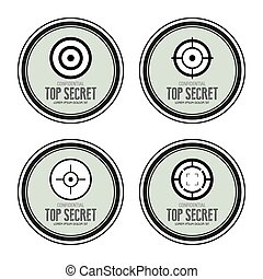 Top Secret - Abstract top secret labels on a white...