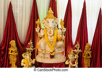 Ganesh idol. Ganesh is the Hindu elephant-headed God.