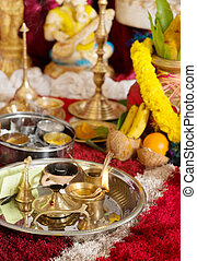 Traditional Indian Hindu religious ceremony