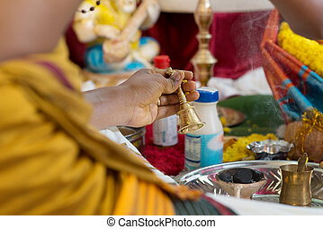 Traditional Indian Hindus blessing ceremony.