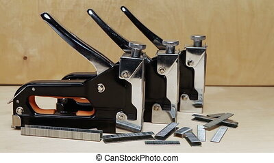 The tool - stapler manual mechanical - for repair work in...