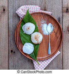 Traditional thai dessert Kanom Krok It s same like tart Made...