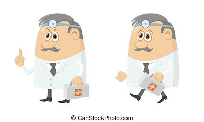 Doctor with case, seamless loop - Fullhd 1920x1080...