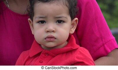 Baby Boy Feeling Solemn