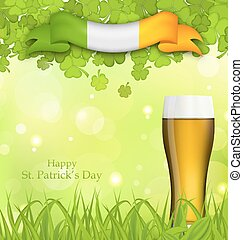 Glowing nature background  for St. Patrick's Day