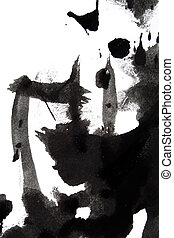 stain from ink, abstract background