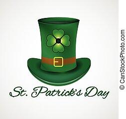 St. Patrick symbol hat - St. Patrick hat with four leaf...