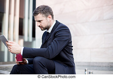 Ambitious office worker - Picture of ambitious office worker...