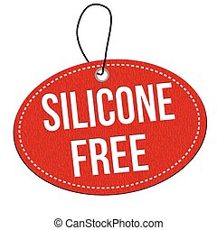 Silicone free leather label or price tag - Silicone free red...