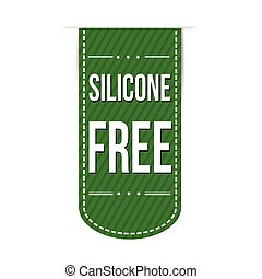 Silicone free banner design over a white background, vector...