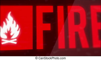 Fire Warning Alert Led Screen Motion Graphic