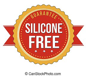Silicone free label or stamp on white background, vector...