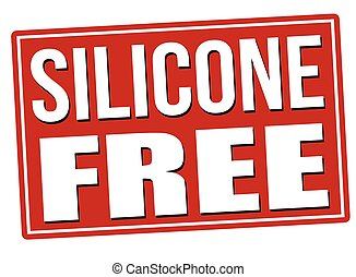 Silicone free red sign isolated on a white background,...