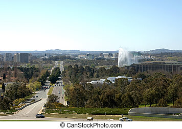Canberra City View - A view of Canberra city, Australian...