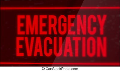 Emergency Evacuation Led Screen Alert Motion Graphic