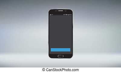 Mobile Application Download Progress Motion Graphic
