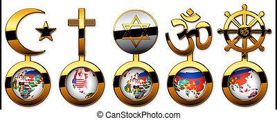 faiths - The 5 world religions