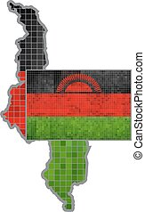 Malawi map with flag inside - Illustration, Malawian map...