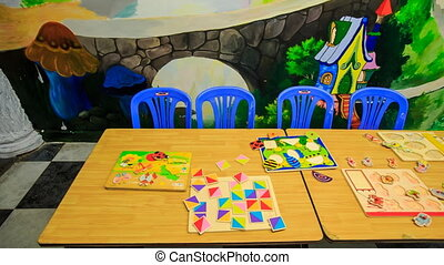Childrens Books Disappear off Table in Kindergarten -...