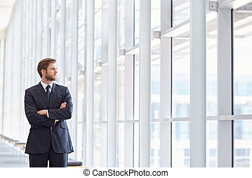 Big corporate ambitions - Corporate executive in a modern...