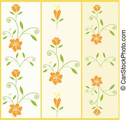 Vector floral pattern with flower a