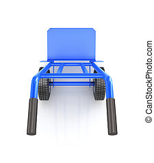 hand truck top view isolated on a white background