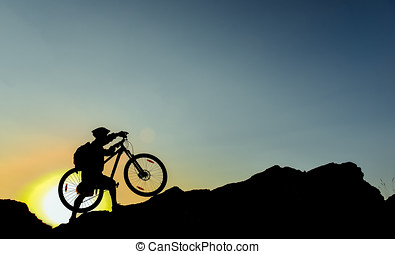 adventurous cyclists