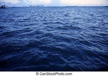 Miami Beach far view from Miami city