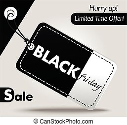 Black Friday sales tag 2 - Black Friday sales tag Label...