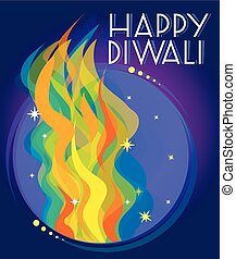 happy diwali - beautiful creative vector colorful happy...