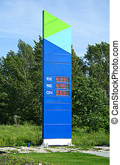fuel pricelist in the station, photo outdoor